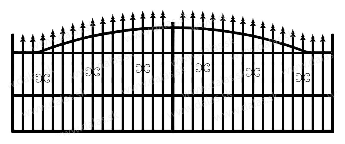 Koľajová kovová brána A1
