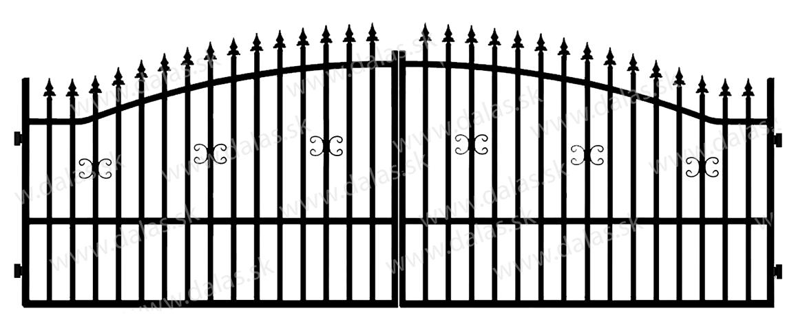 Kovová brána A1
