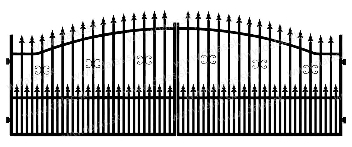 Kovová brána A1+