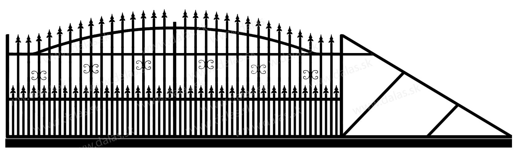 Samonosná posuvná kovová brána A1+