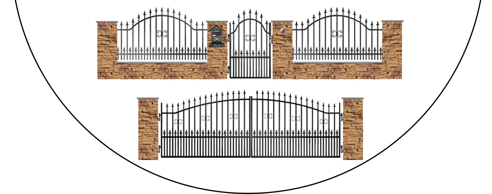 Zostava kovových plotov A1+