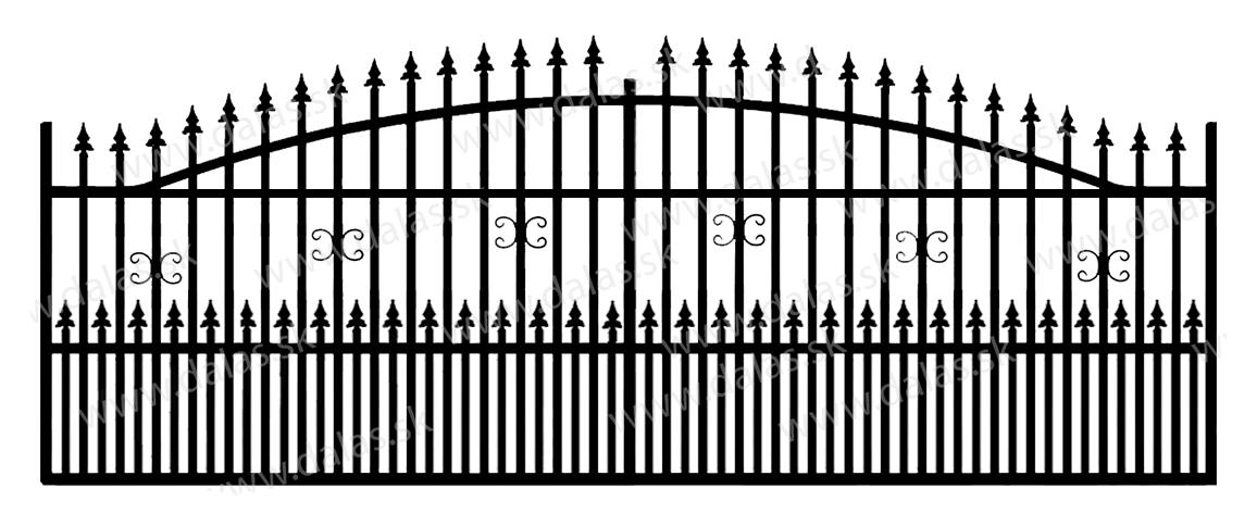 Koľajová kovová brána A1+