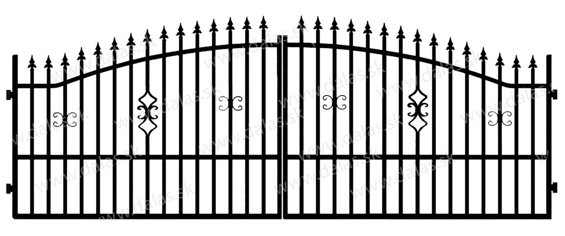 Kovová brána A2