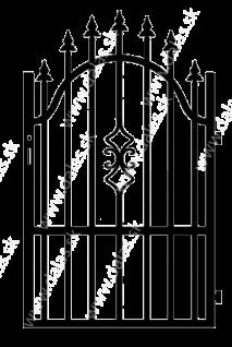 Kovová bránka A2