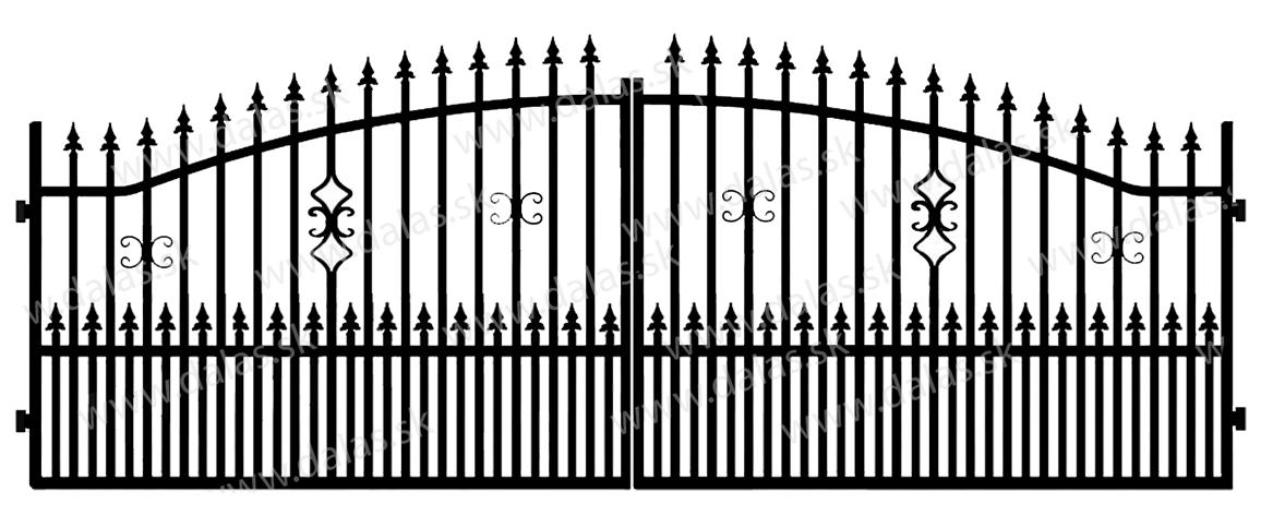 Kovová brána A2+