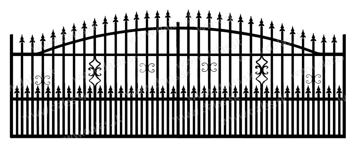 Koľajová kovová brána A2+