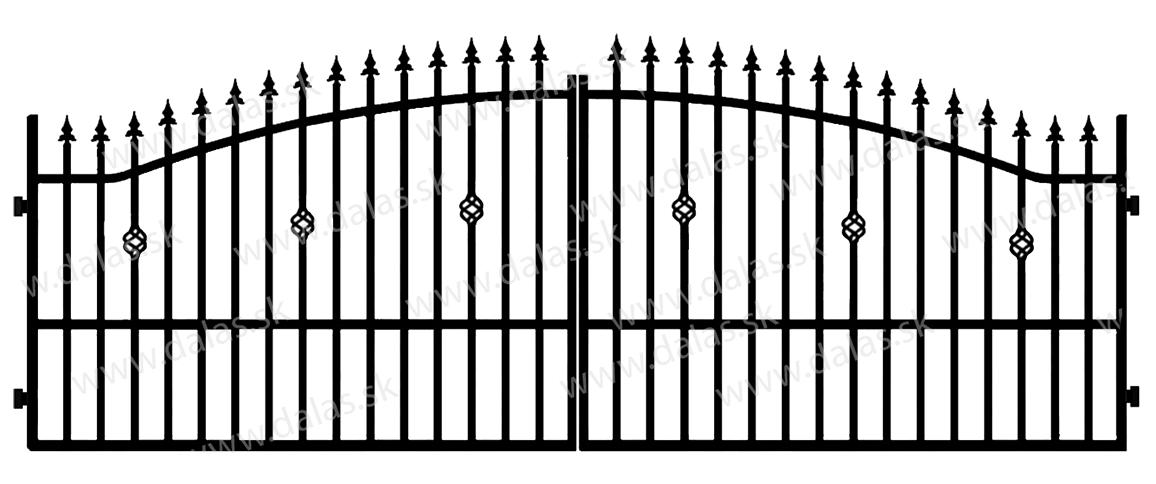 Kovová brána A3
