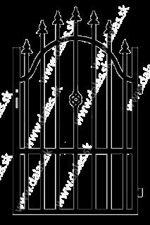 Kovová bránka A3