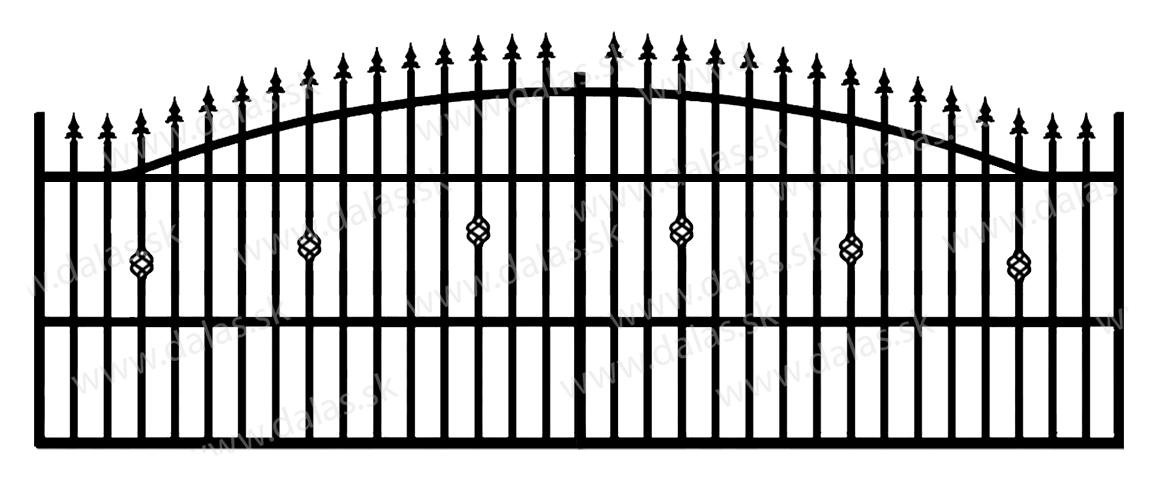 Koľajová kovová brána A3