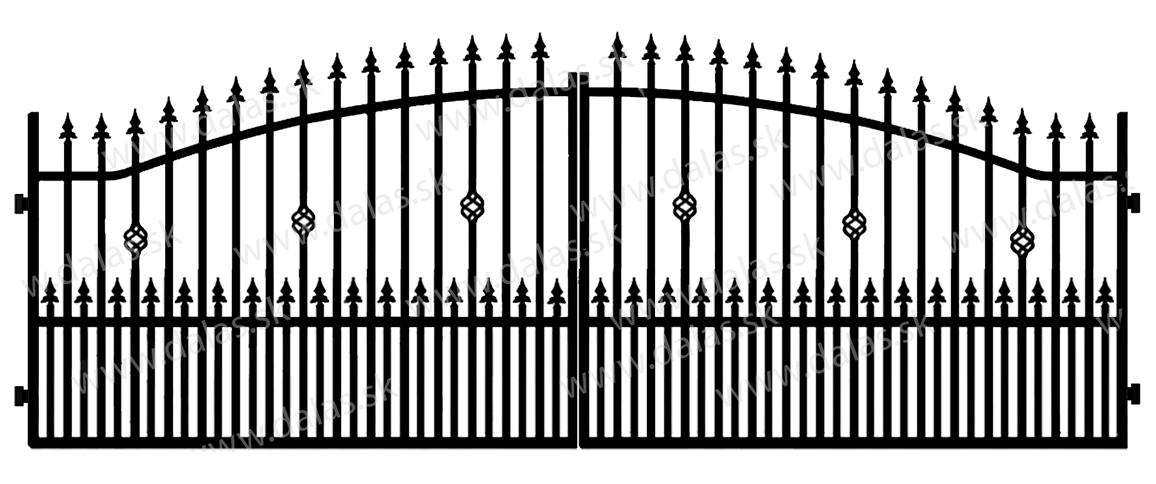 Kovová brána A3+