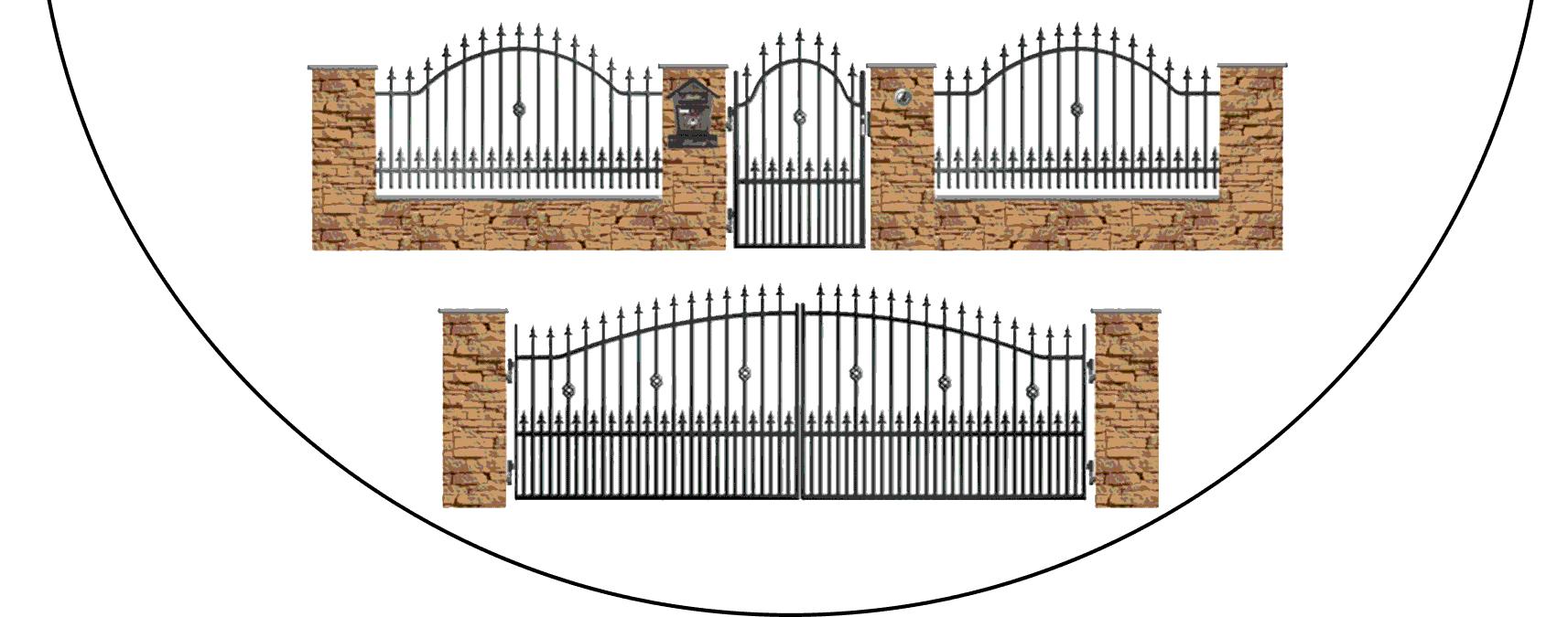 Zostava kovových plotov A3+