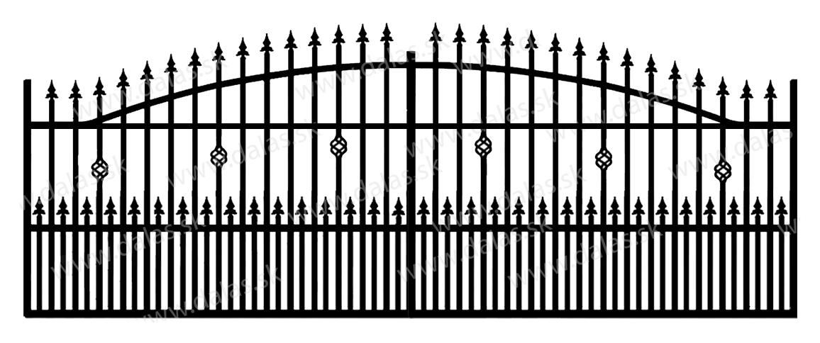 Koľajová kovová brána A3+