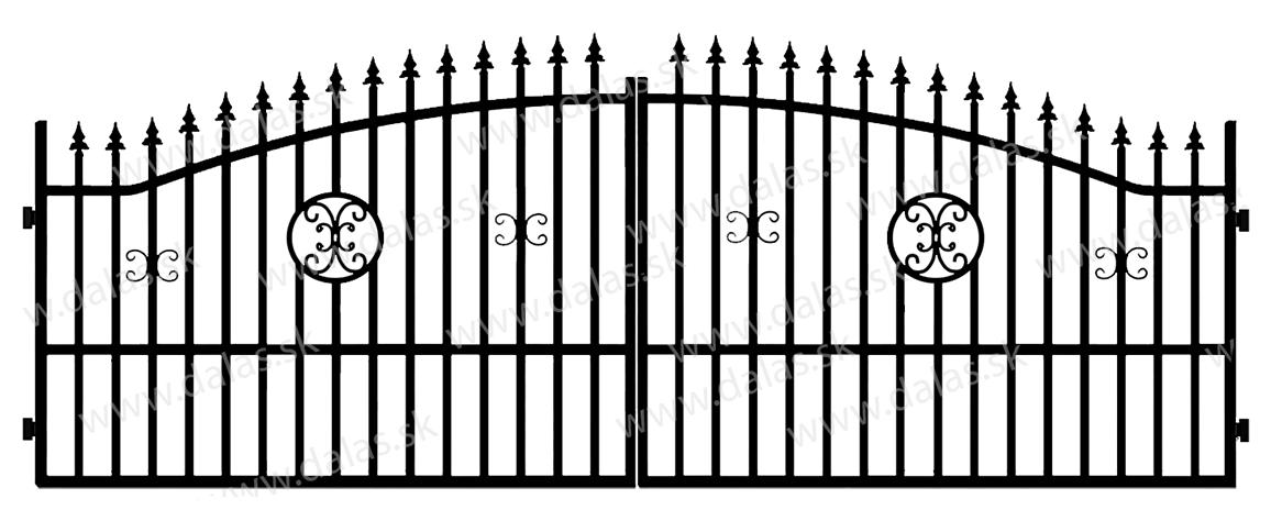 Kovová brána A4