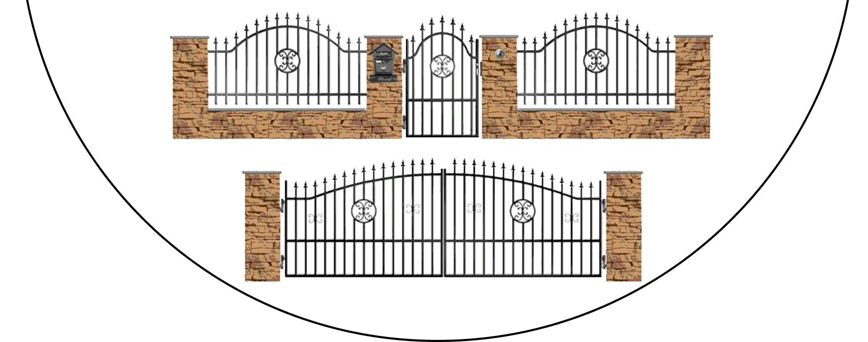 Zostava kovových plotov A4