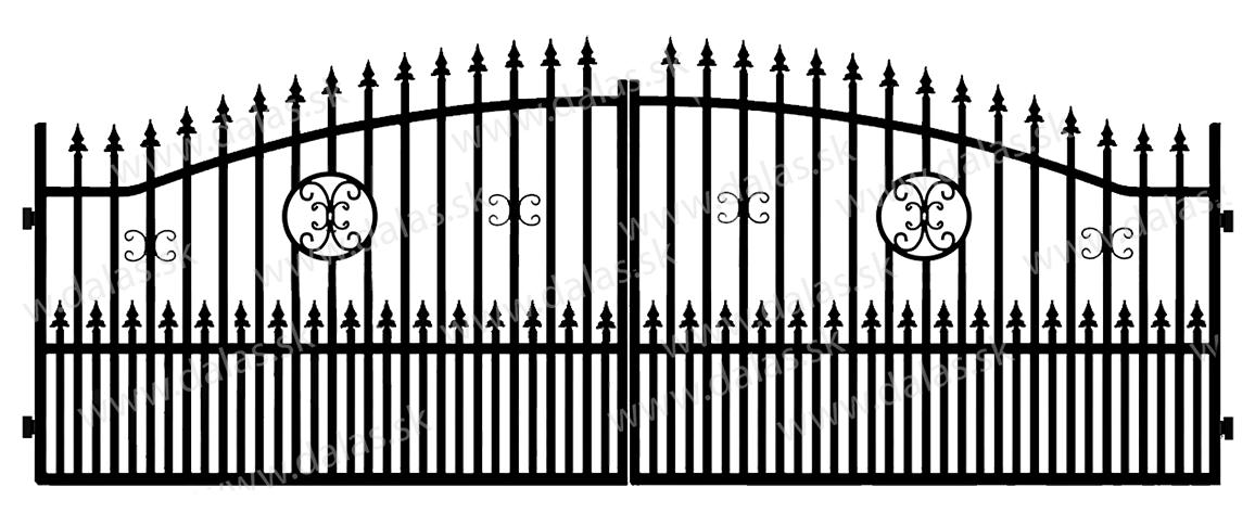 Kovová brána A4+