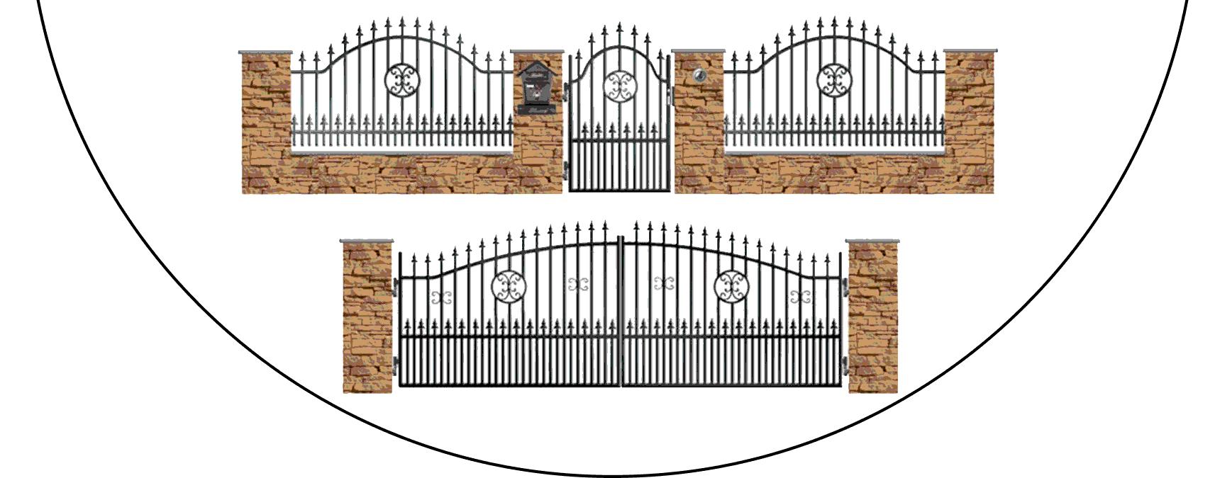 Zostava kovových plotov A4+