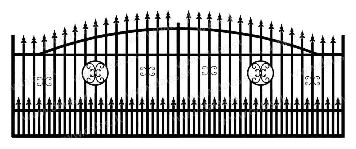 Koľajová kovová brána A4+