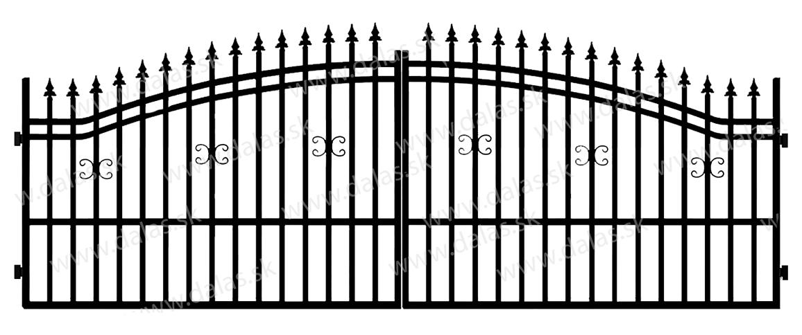 Kovová brána B1