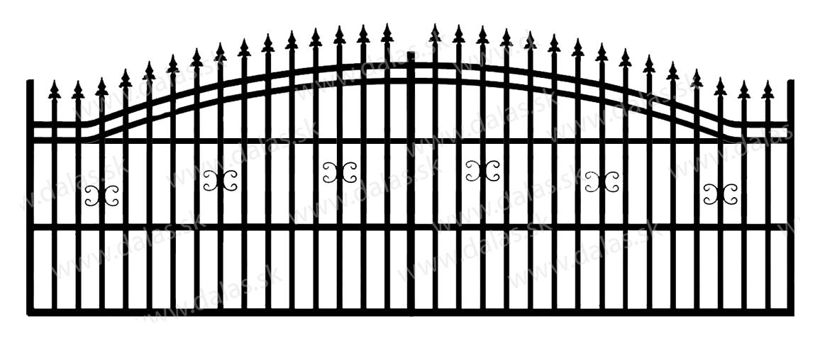 Koľajová kovová brána B1