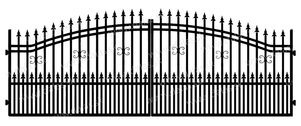 Kovová brána B1+