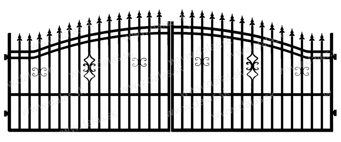 Kovová brána B2