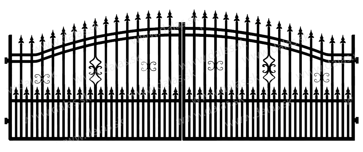Kovová brána B2+