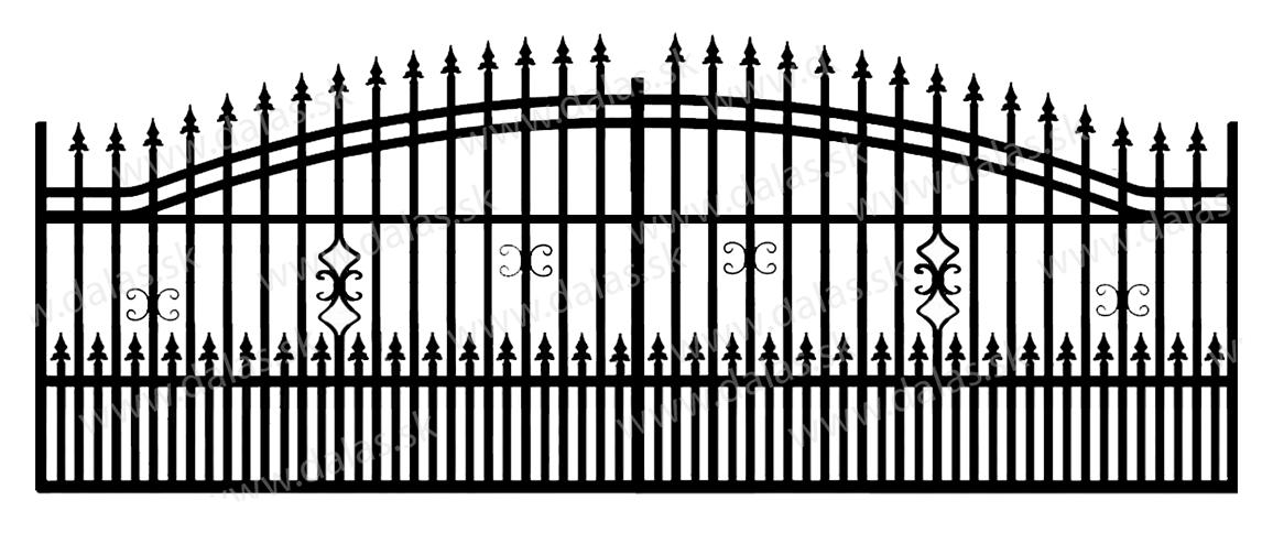 Koľajová kovová brána B2+