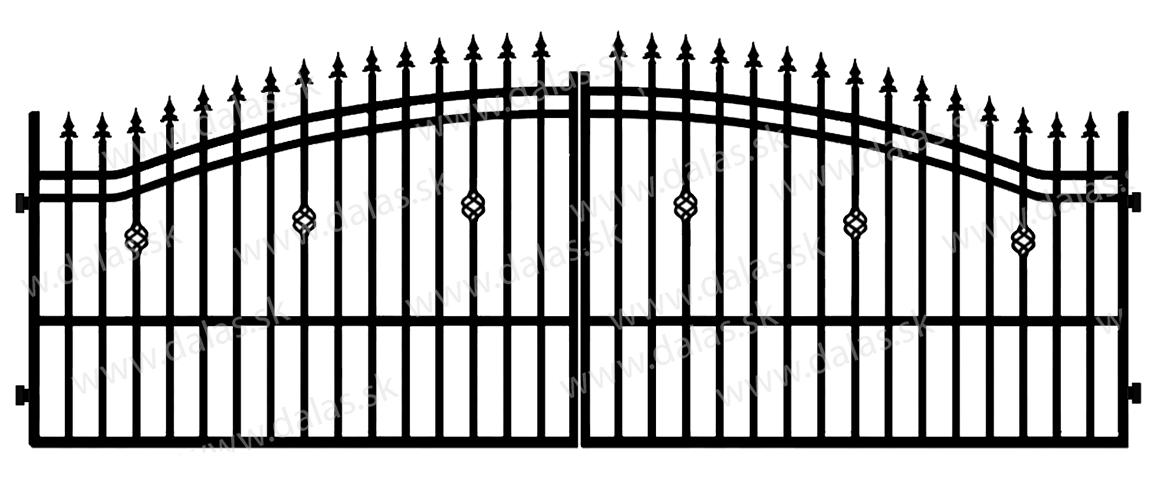 Kovová brána B3