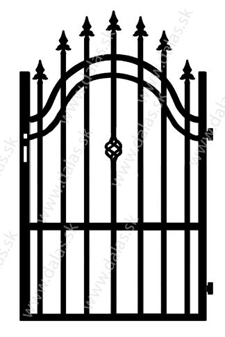 Kovová bránka B3
