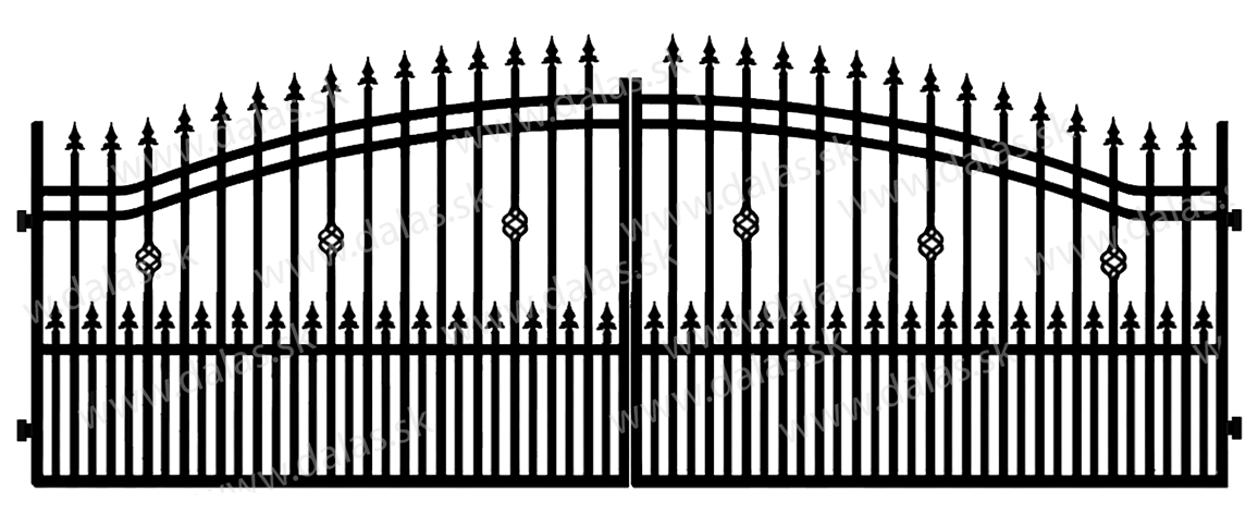 Kovová brána B3+