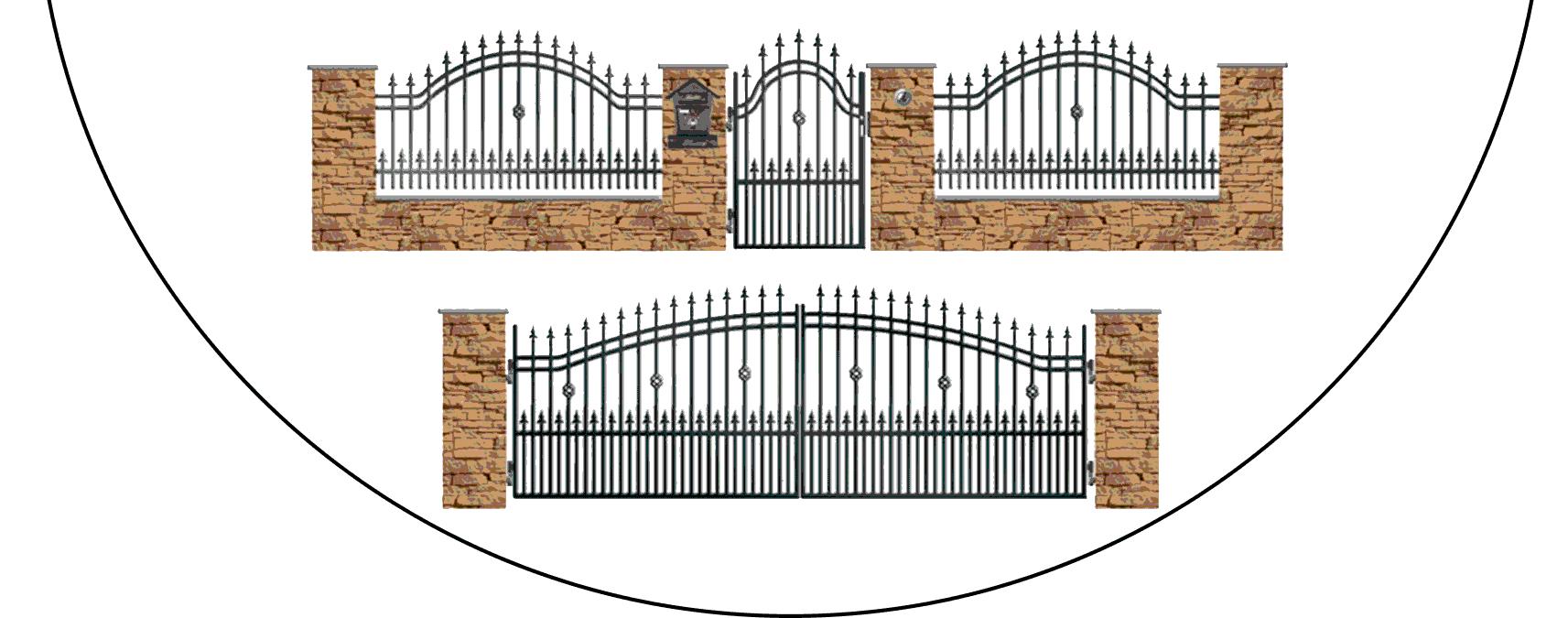 Zostava kovových plotov B3+