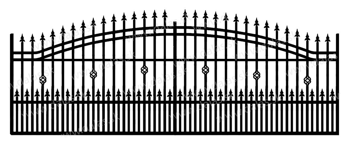 Koľajová kovová brána B3+