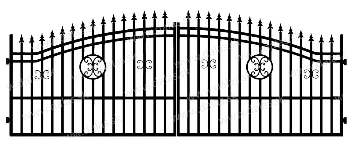 Kovová brána B4