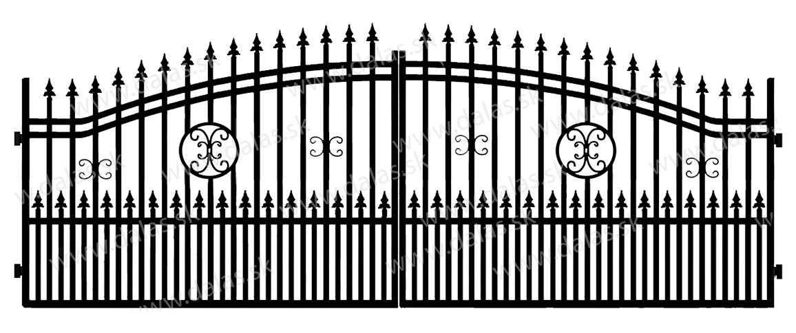 Kovová brána B4+