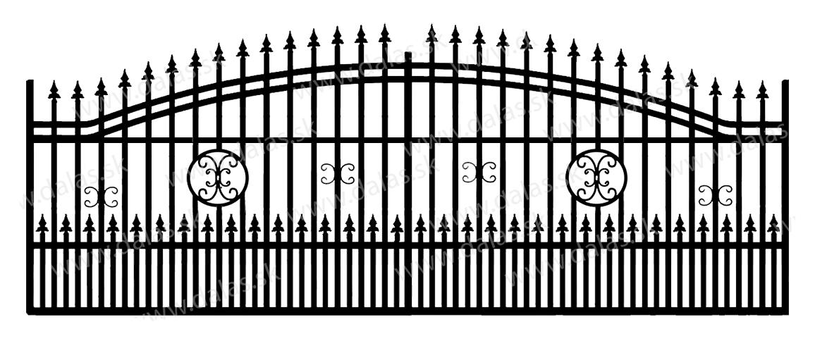 Koľajová kovová brána B4+