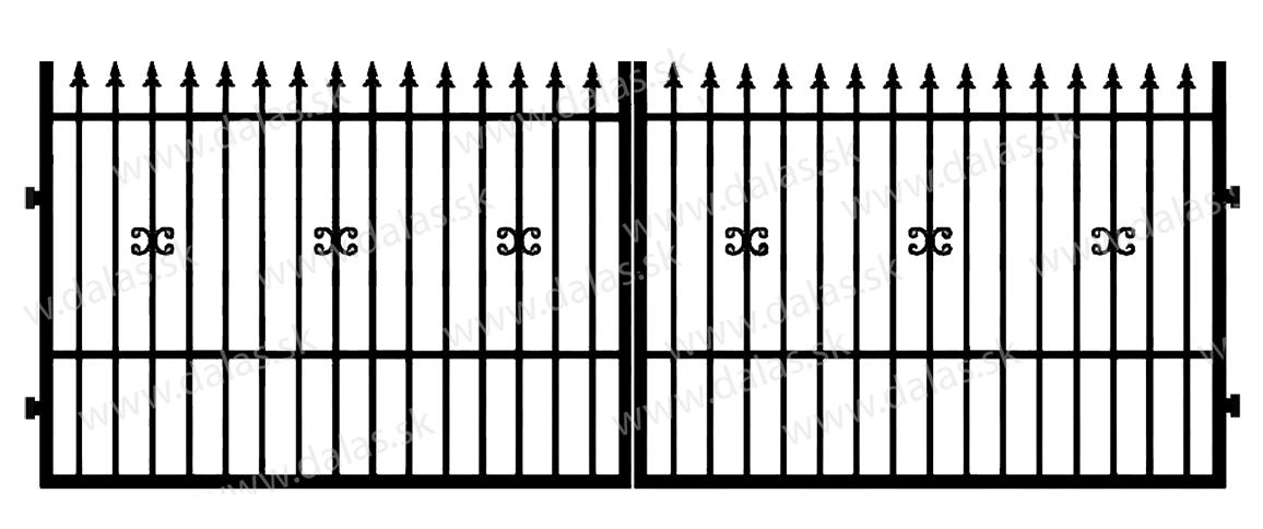 Kovová brána C1