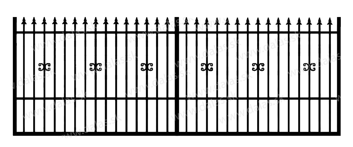 Koľajová kovová brána C1