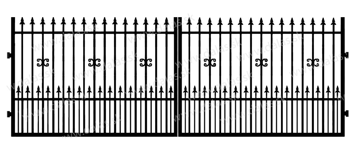 Kovová brána C1+
