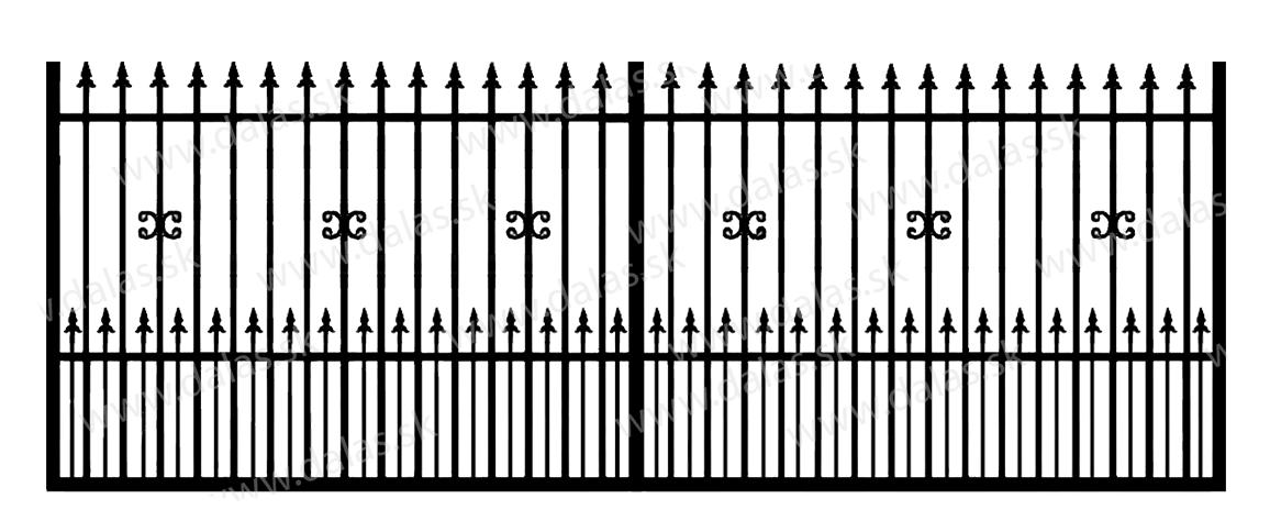 Koľajová kovová brána C1+