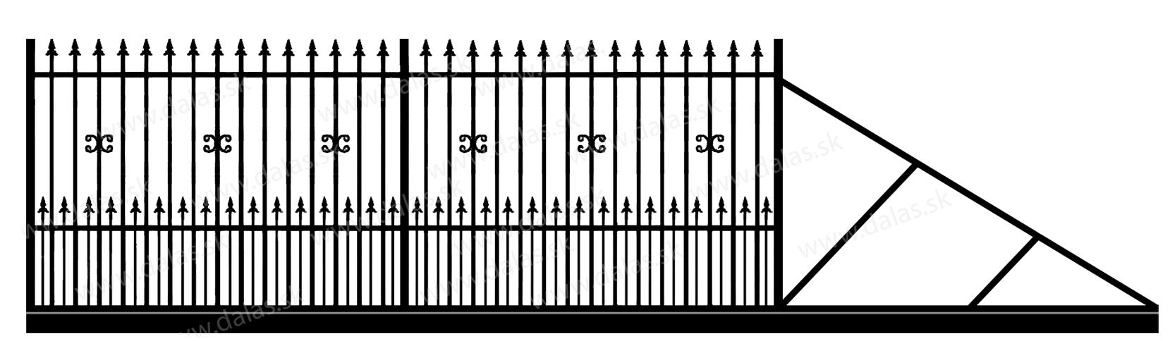 Samonosná posuvná kovová brána C1+