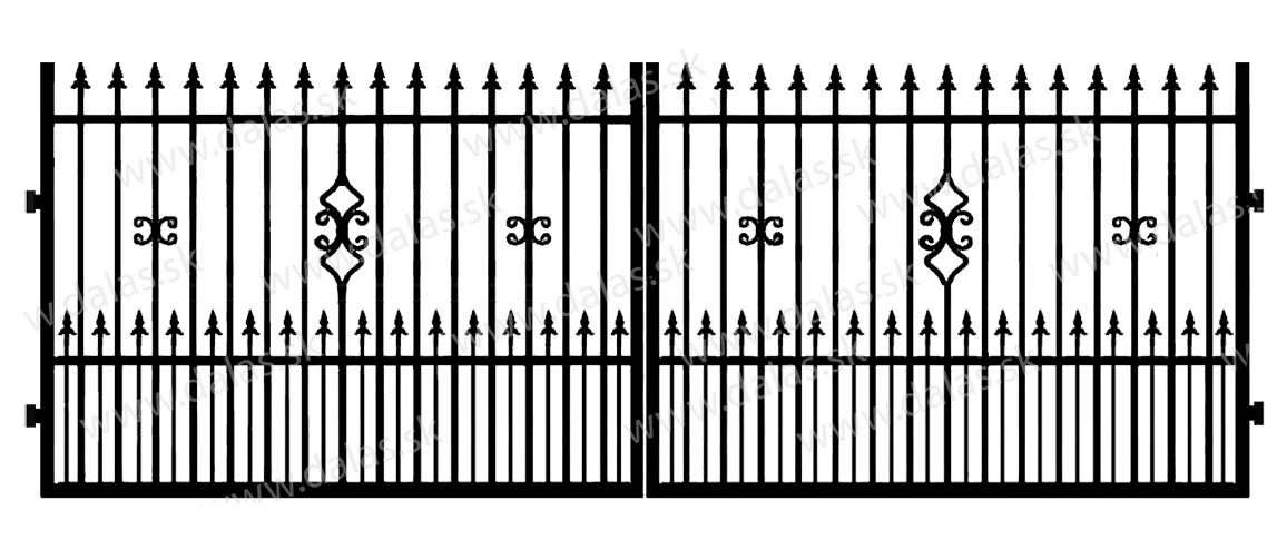 Kovová brána C2+