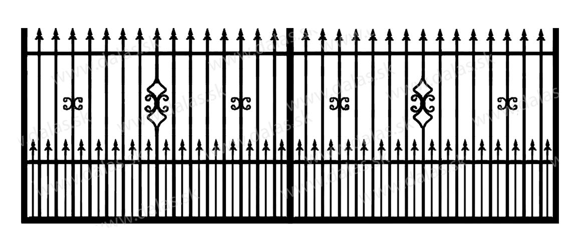 Koľajová kovová brána C2+