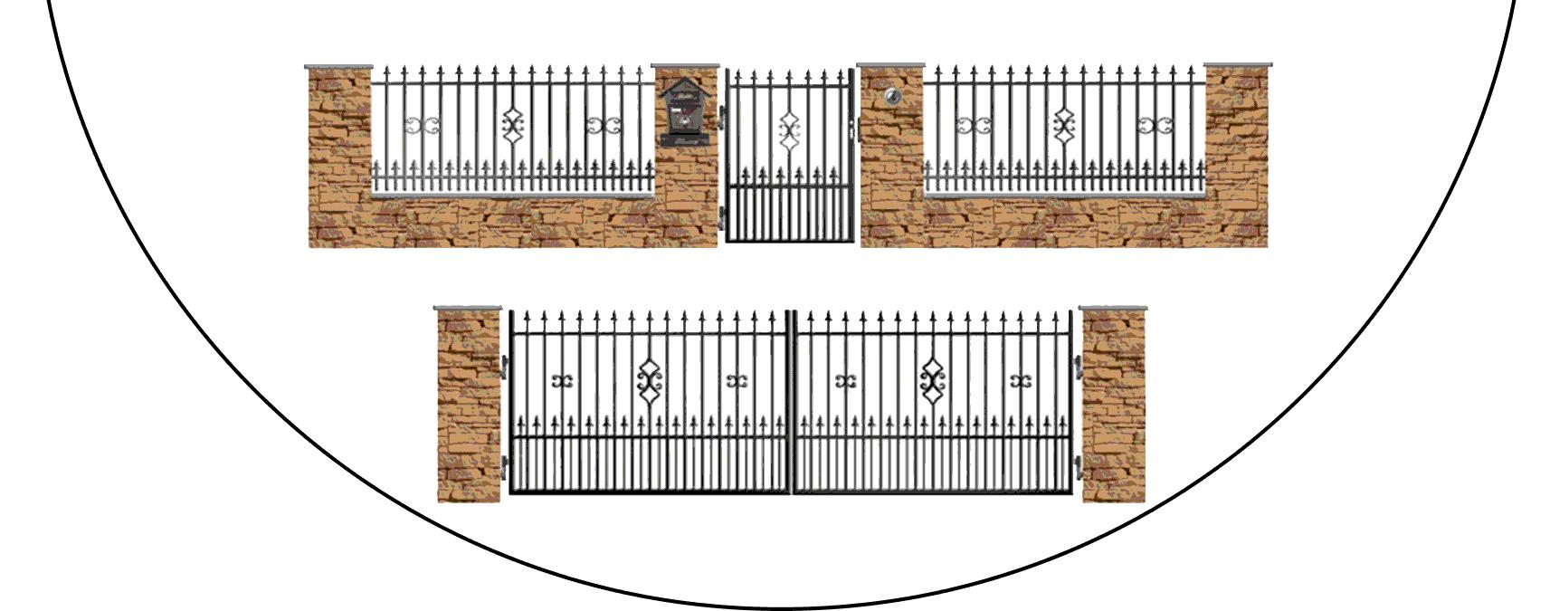 Zostava kovových plotov C2+