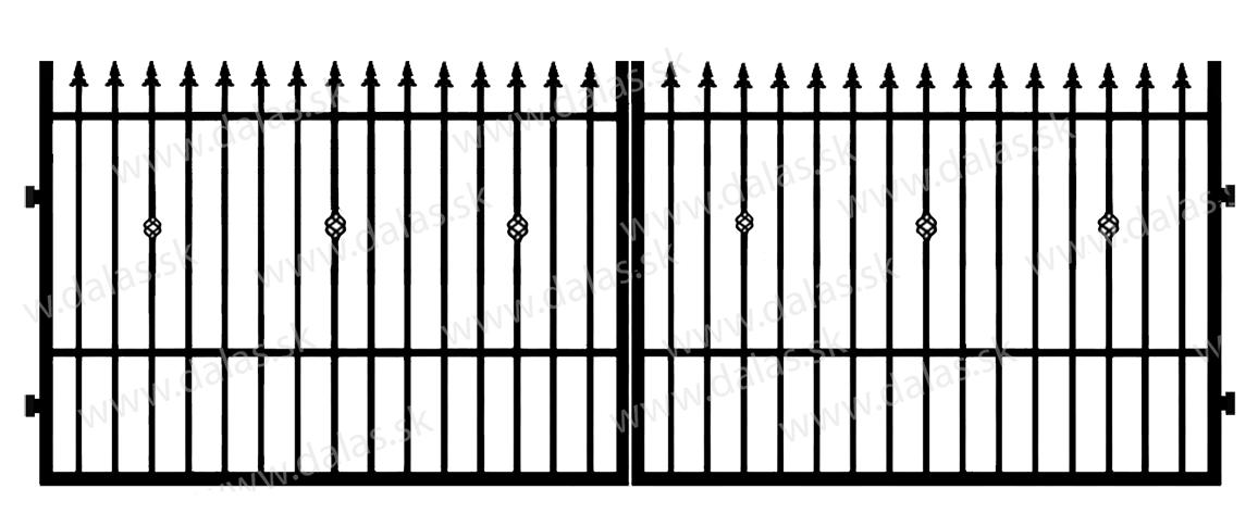Kovová brána C3