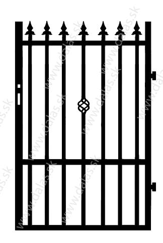 Kovová bránka C3