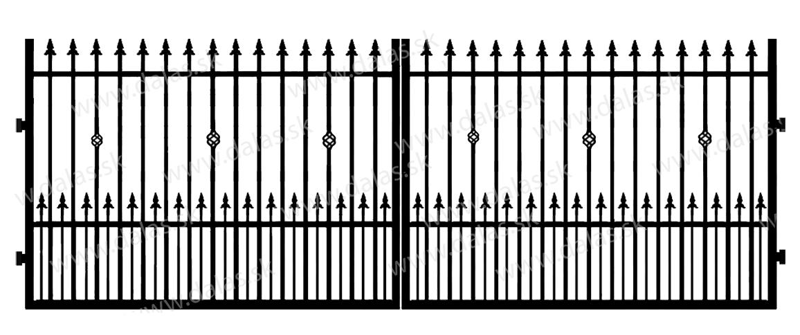 Kovová brána C3+