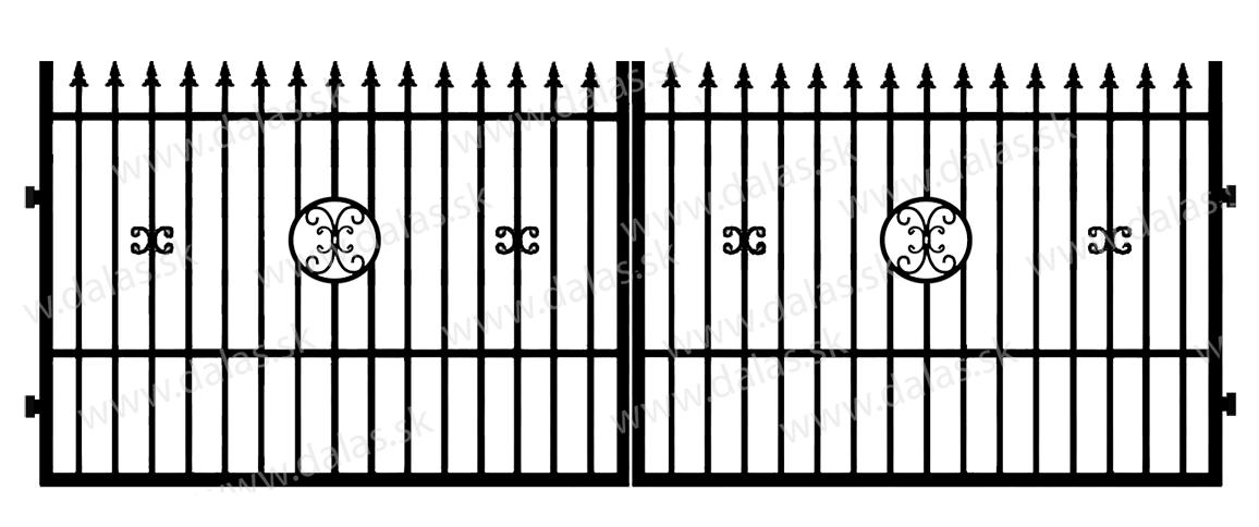 Kovová brána C4