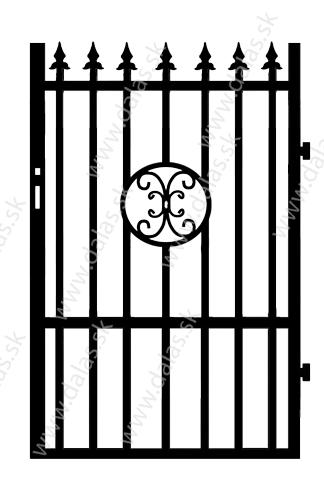 Kovová bránka C4