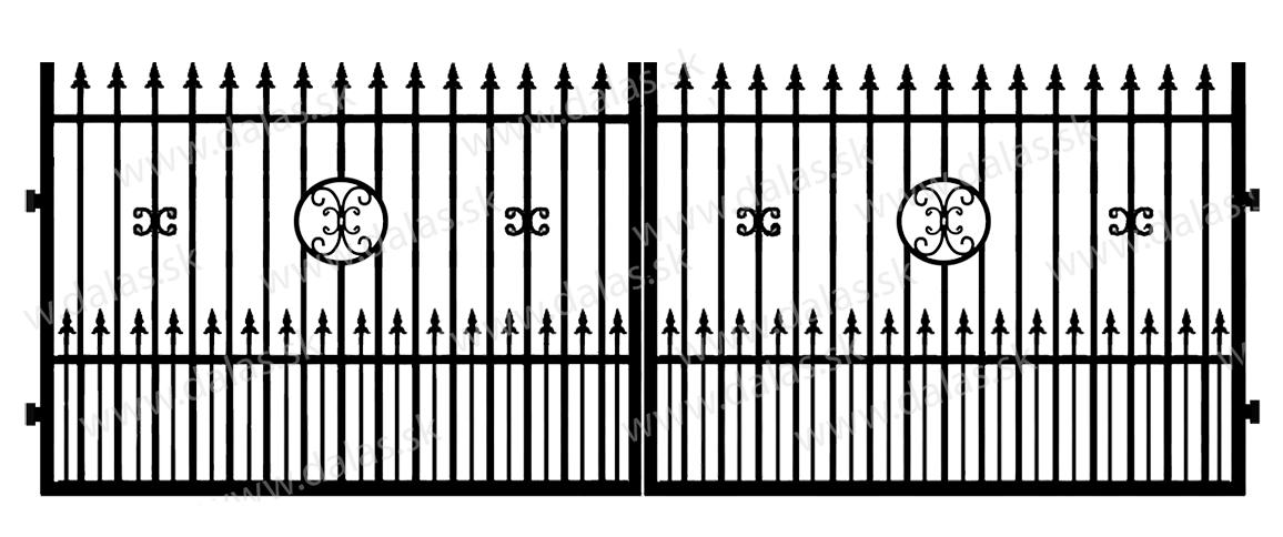 Kovová brána C4+