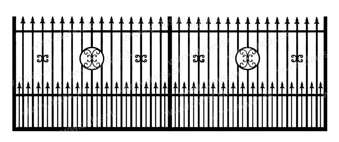 Koľajová kovová brána C4+